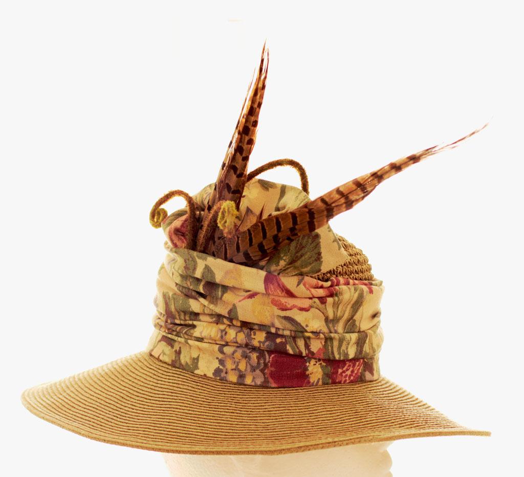 Feathered Garden Hat